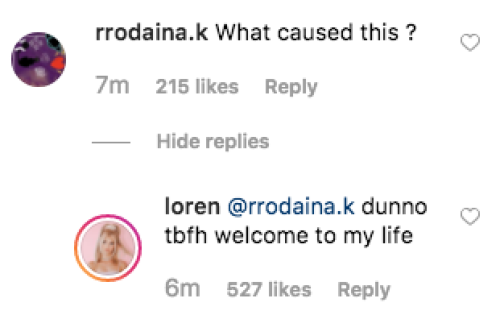 Loren Gray comment