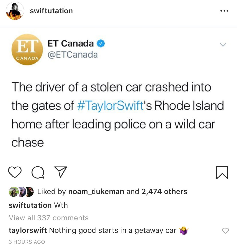 Taylor Swift Comment