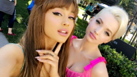 dove cameron and ariana grande friends hairspray