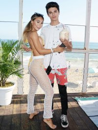 Eva Gutowski and Brent Rivera at Instagrams 3rd Annual Instabeach Party