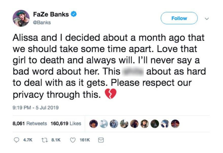 Alissa Violet Faze Banks Split