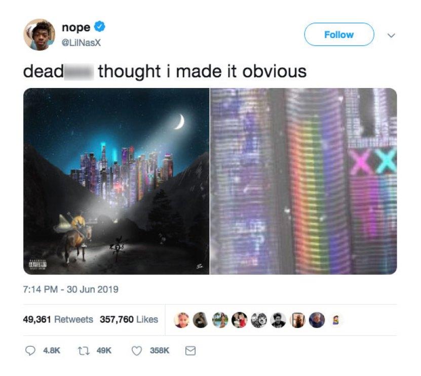 Lil Nas X Gay Tweet