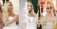 tana mongeau wedding dress looks