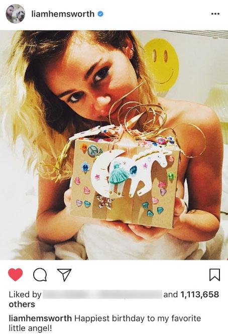 Liam Hemsworth Miley Cyrus Angel