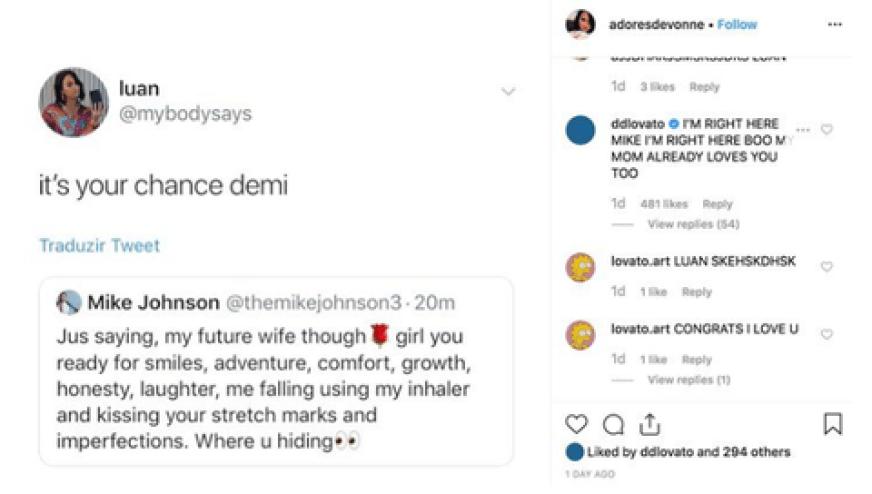 Demi Lovato Mike Johnson Comment