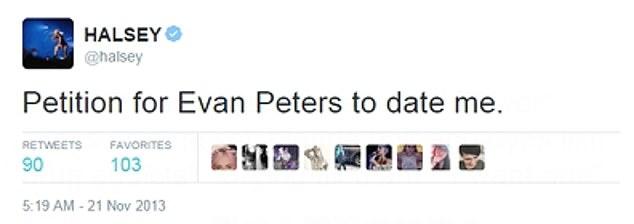 Halsey Evan Peters Dating
