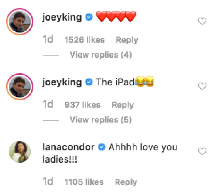 Joey King Laura Marano Lana Condor Hangout Comments