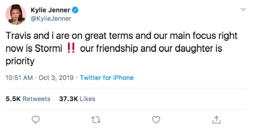 Kylie Jenner Travis Scott Split Tweets