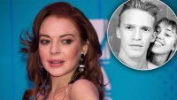 Lindsay Lohan Shades Miley Cyrus Cody Simpson