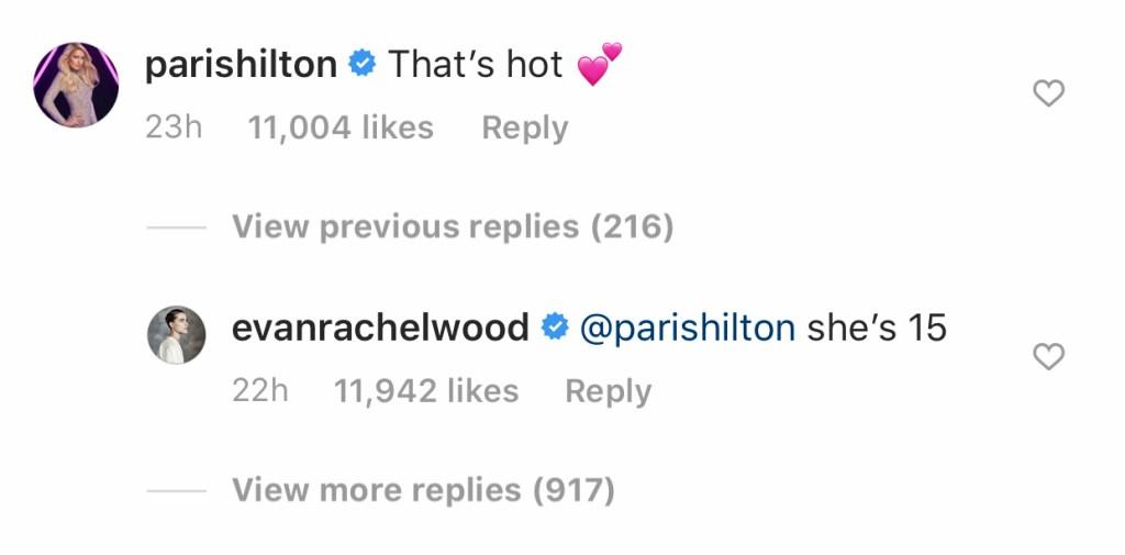 Millie Bobby Brown Paris Hilton Evan Rachel Wood Comments