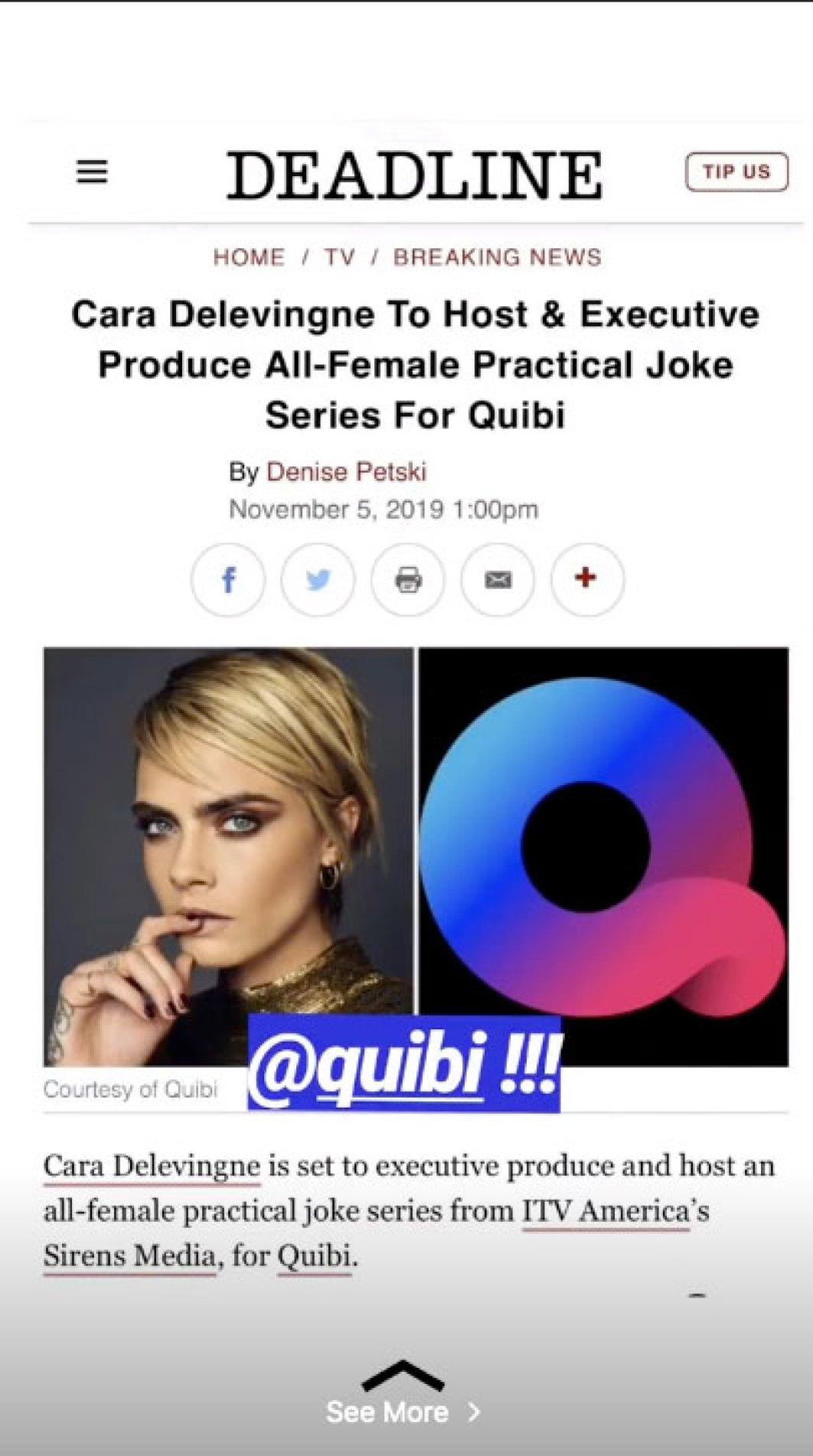 Cara Delevingne To Host Practical Joke Show