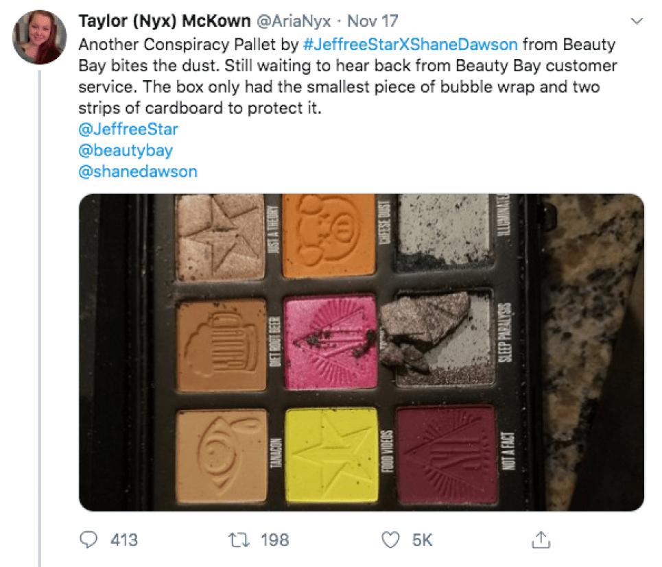 Jeffree Star and Shane Dawson Respond to Damaged Palettes