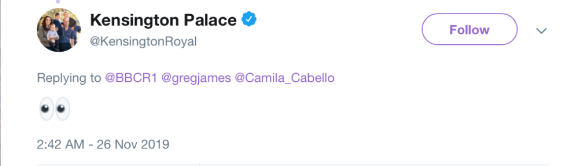 Kate and Will React To Camila Cabello
