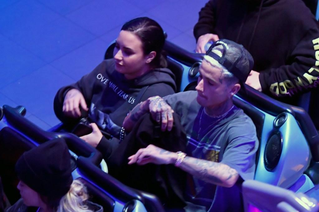 Demi Lovato And Boyfriend Austin Wilson Have Steamy Date Night At Disneyland