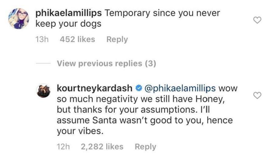 Kourtney Kardashian Dog Gift