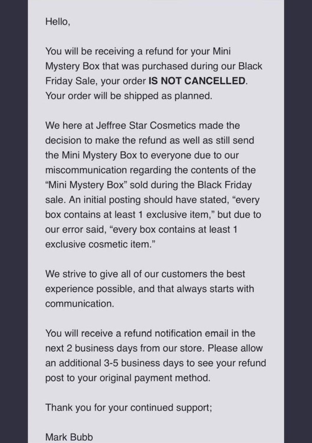 Jeffree Star Refunds Customers That Received Stickers Instead Of Lip ProductsJeffree Star Refunds Customers That Received Stickers Instead Of Lip Products