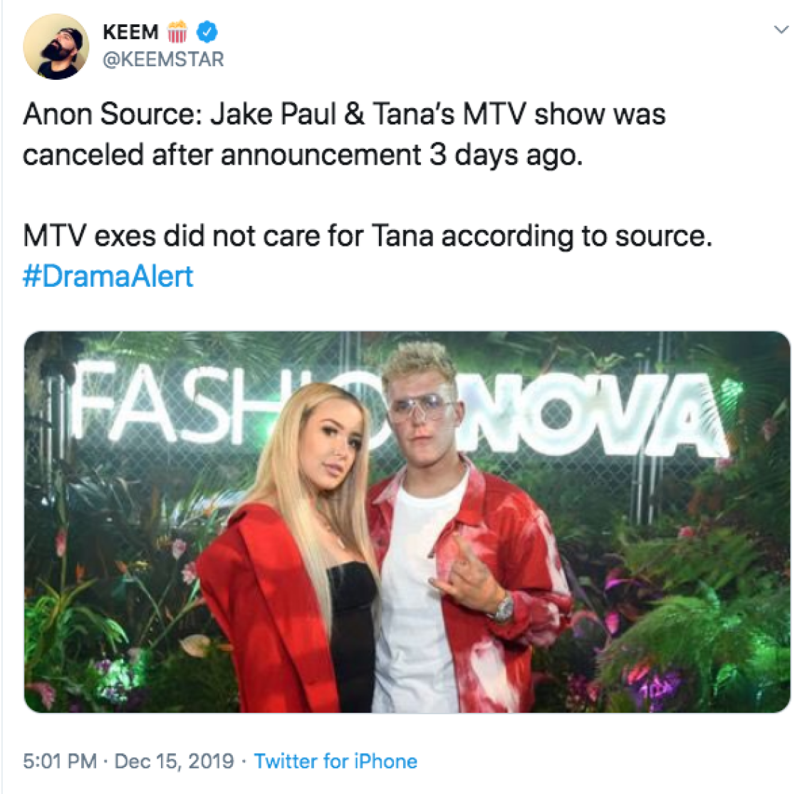 Keemstar Claims Tana And Jake's Show Was Canceled