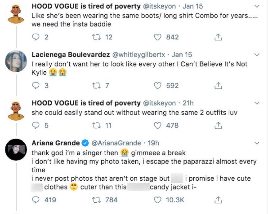 Ariana Grande Way She Dresses Claps Back