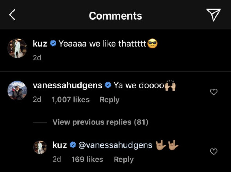 Vanessa Hudgens Kyle Kuzma