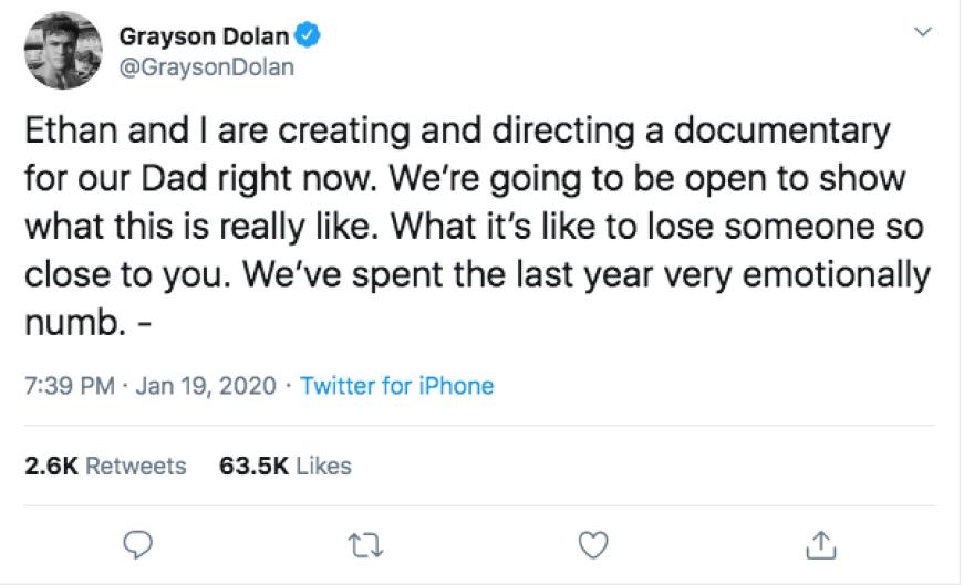 Ethan Grayson Dolan Documentary