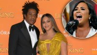 Jay-z And Beyonce Support Demi Lovato