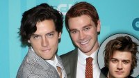 KJ Apa Apparently Sold Cole Sprouse's Used Under-Eye Masks To 'Stranger Things' Star Joe Keery