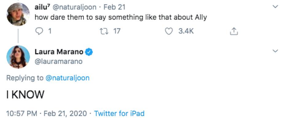 Laura Marano Responds To Tweet Calling Her 'Austin & Ally' Character Homophobic