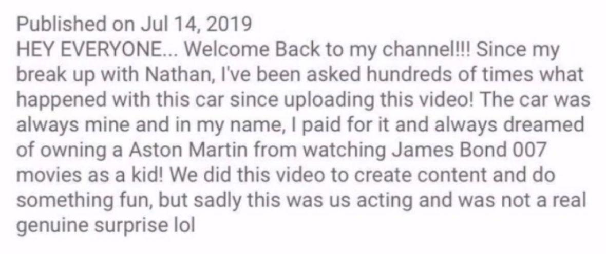 Jeffree Star Admits Video Giving Ex Nathan Schwandt An Aston Martin Was Staged