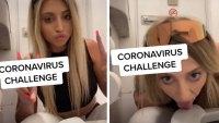 tiktok star Ava Louise licks toilet amid coronavirus
