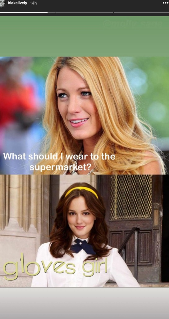 Blake Lively Hilariously Shares Her Own Version Of The Viral 'Gossip Girl' Meme