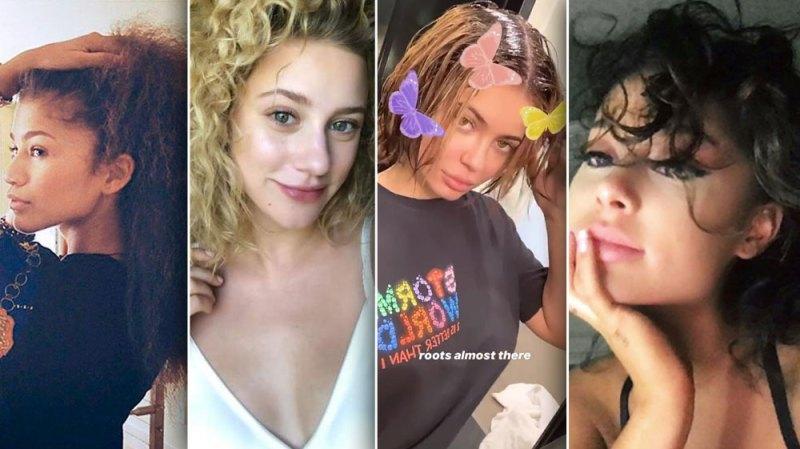 celebrities natural hair