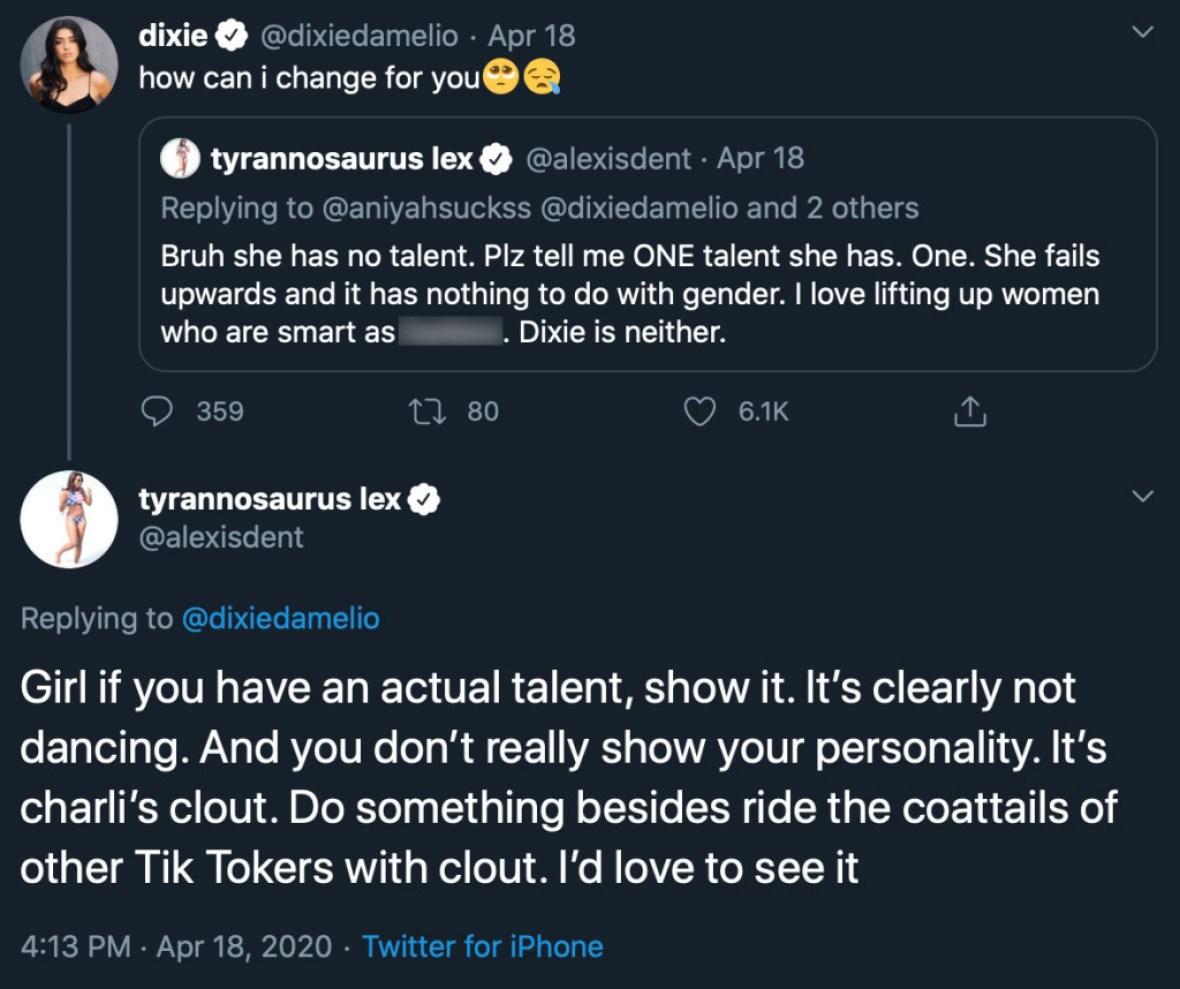 TikTok Star Dixie D'Amelio Slams Rumors That She's Using Sister Charli For Fame