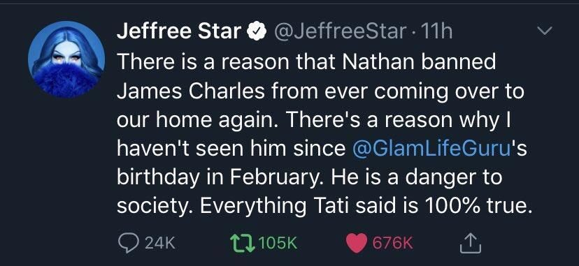 jeffree star james charles danger to society tweet
