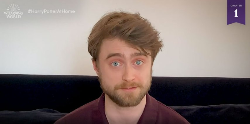 daniel radcliffe reads harry potter