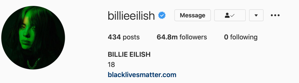 Billie Eilish Unfollows Everyone On Instagram After Fans Call Her Out For Following Celebs Accused Of Abuse