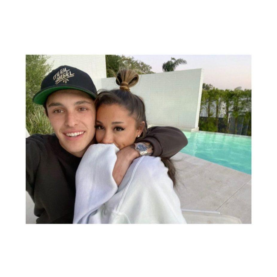 Ariana Grande Cozies Up To BF Dalton Gomez For 27th Birthday