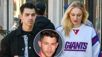 nick jonas visits joe sophie turner after birth of baby