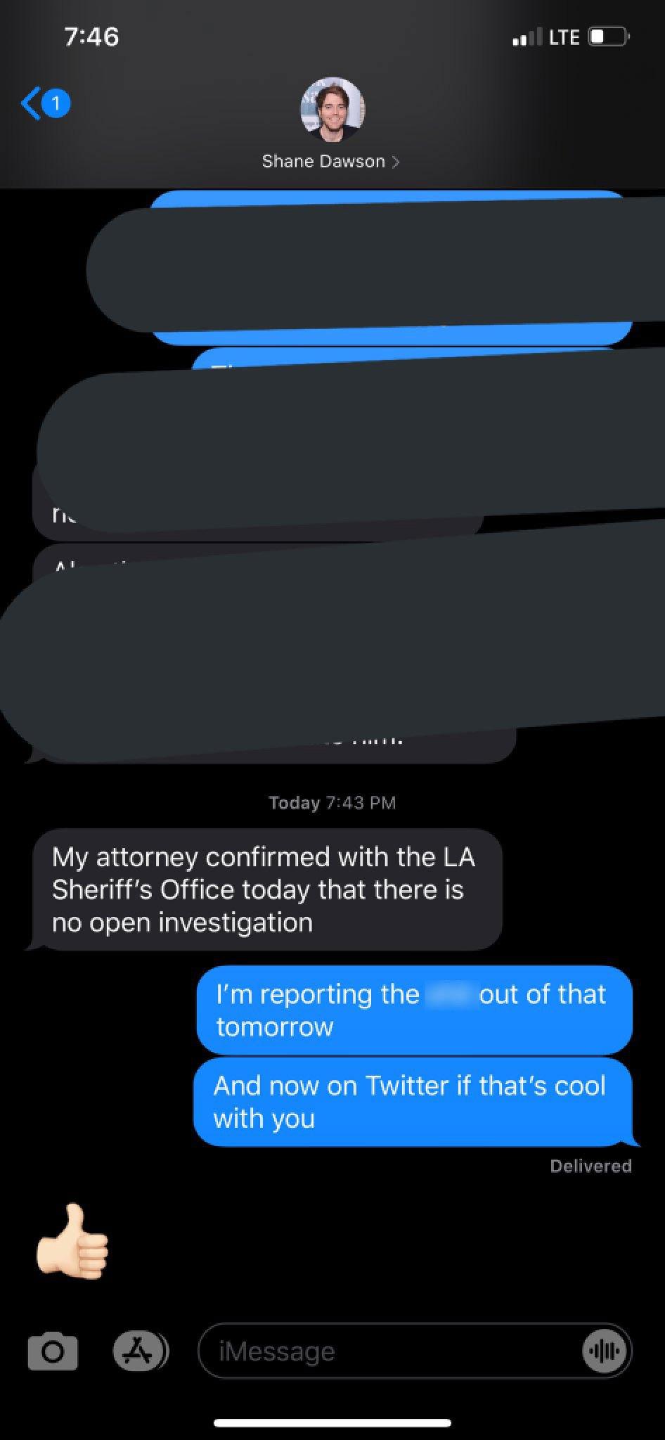 shane dawson denies police rumors