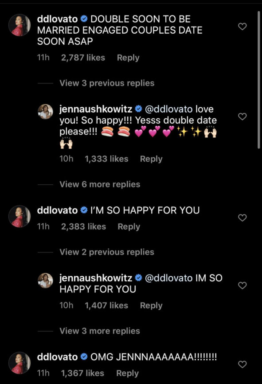 jenna ushkowitz engaged celebrity reactions
