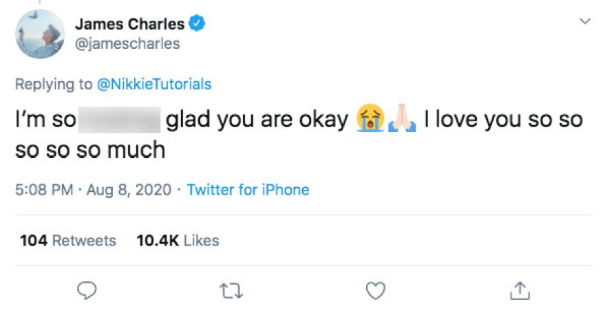 nikkietutorials robbed celebrity reactions tweets