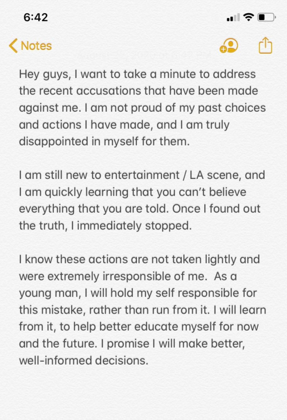 TikTok Star Tony Lopez Apologizes After Coming Under Fire For Allegedly Sending Inappropriate Messages To Underage Girls