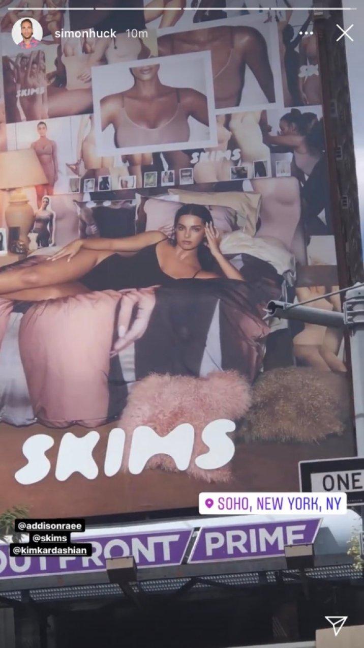 Addison Rae Models For Kim Kardashians' SKIMS Shapewear Line Amid Friendship With Sister Kourtney
