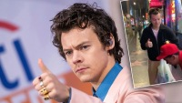Harry Styles Gives Fan a Big Thumbs Up in Viral Video from Rare Outing