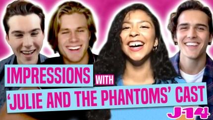 Watch The Cast Of Kenny Ortega's Netflix Show 'Julie And the Phantoms' Do Celeb Impressions
