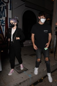 Kelly Osbourne seen leaving a dinner date with Griffin Johnson at Craigs