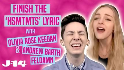 Andrew Barth Feldman and Olivia Rose Keegan Know So Many 'HSMTMTS' Songs — Watch